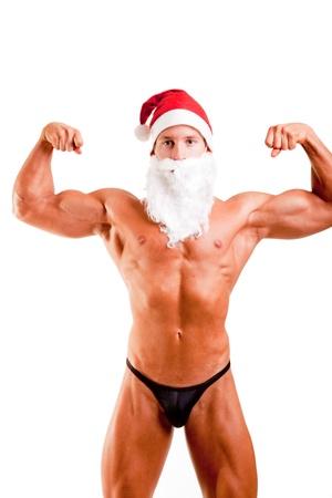 muscular santa claus photo