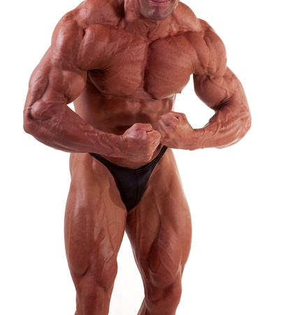 bodybuilder posing -most muscular pose photo