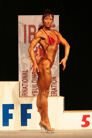 beauty contest: KOPER - NOVEMBER 13: Grof Brigitta participates in IBFF Bodybuilding world championship Miss Figure category on November 13, 2010 in Koper, Slovenia Editorial