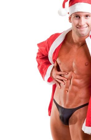 muskulöse Weihnachtsmann