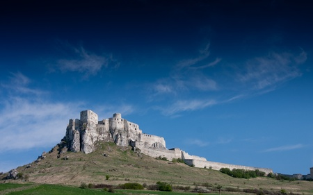 Spissky Castle, Slovakia with blie sky