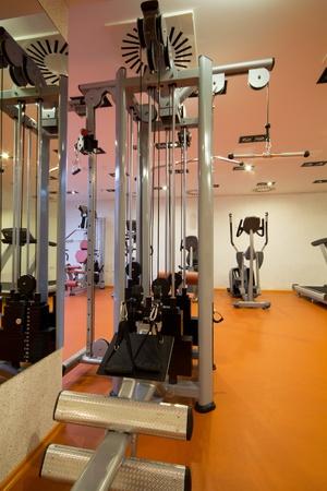 weight training equipment in gym