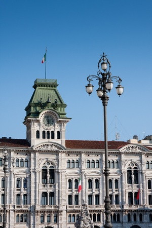 trieste: Government House in Trieste Italy Editorial