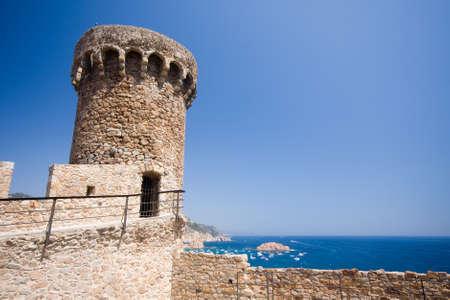 fortress tower in Tossa de Mar  Costa Brava, Spain  photo