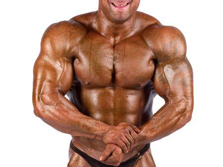 bodybuilder flexing his muscles in studio Stock Photo - 13250306