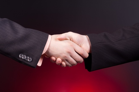 two businessman ready to handshake photo