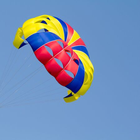 Interior details of a colorful parachute photo