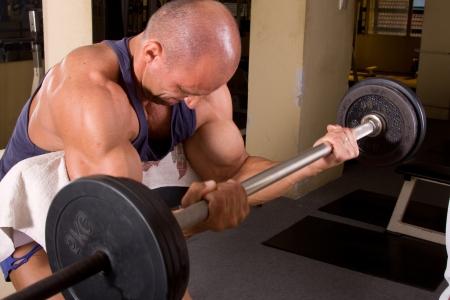 bodybuilder training: bodybuilder training in a gym