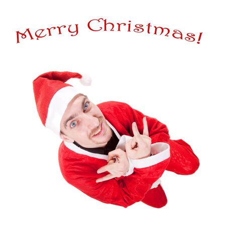 santa claus with christmas text photo