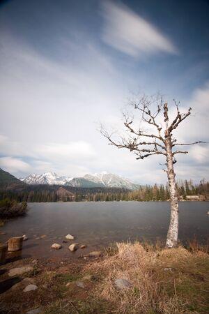 hight: Strbske pleso lake, Hight Tatras, Slovakia -long exposure