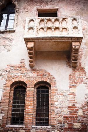 romeo and juliet: Romeo and Juliet balcony in Verona, Italy Stock Photo