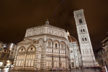 architectonics: Night view of the Florence Duomo