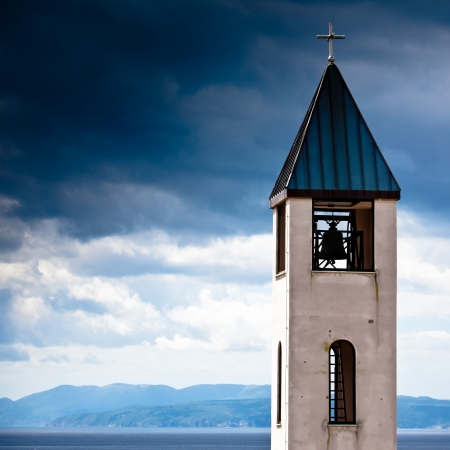 church tower with cloudy sky Stock Photo - 20196110