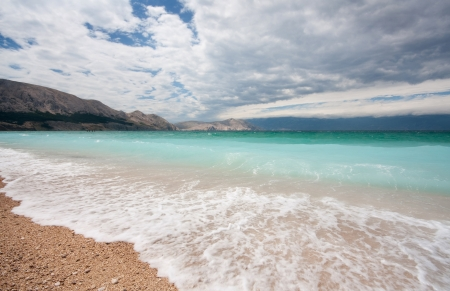 stormy sea in Croatia, Baska