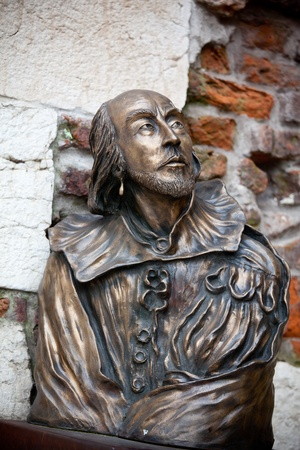 William Shakespeare statue in Verona, Italy photo