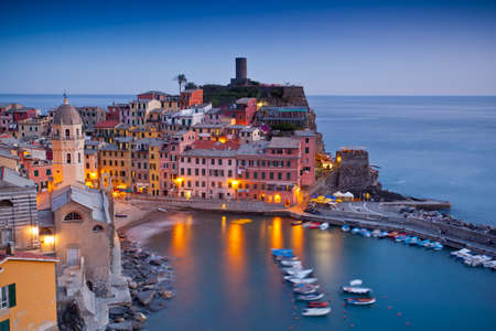 vernazza: Village of Vernazza, Cinque Terre, Italy Stock Photo