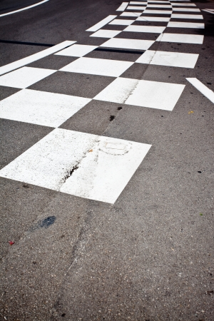 Car race asphalt and curb on Monaco Montecarlo Grand Prix street circuit Standard-Bild