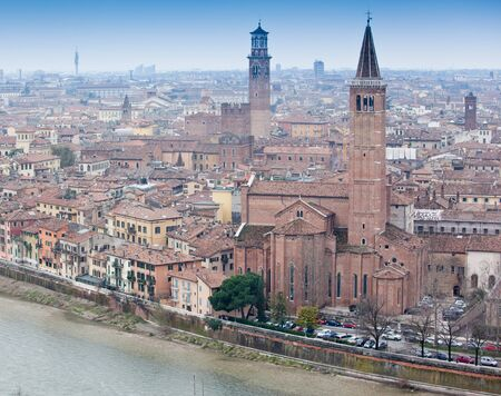 Panoramic view the old city Verona, Italy photo