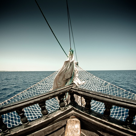 detail of pirate ship in Tunisia photo