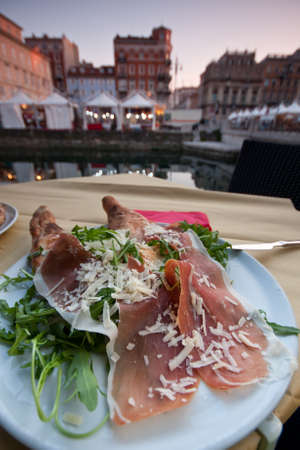 Ham with ruccola in Trieste Stock Photo - 21819635