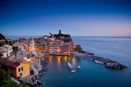Village of Vernazza, Cinque Terre, Italy Stock Photo