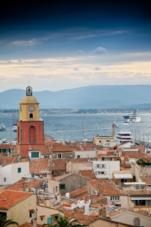 Beautiful view of Saint-Tropez, France photo
