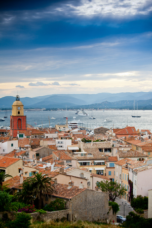 Beautiful view of Saint-Tropez, France photo
