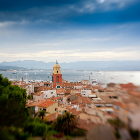 Beautiful view of Saint-Tropez, France taken with lensbaby photo