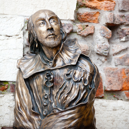 William Shakespeare-Statue in Verona, Italien Lizenzfreie Bilder