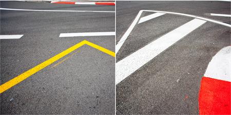 Car race asphalt theme on Monaco Grand Prix track  photo