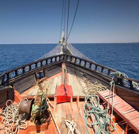 detail of pirate ship in Tunisia