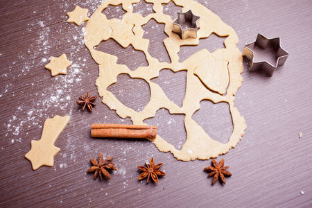 christmas baking: Christmas baking, cake form and spices