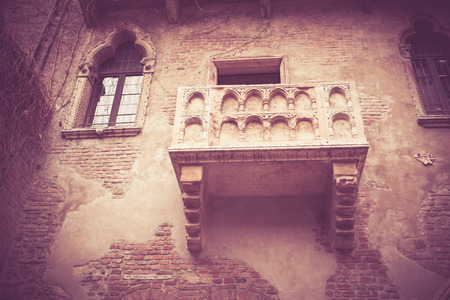 romeo and juliet: Romeo and Juliet balcony in Verona, Italy Stock Photo