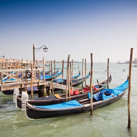 beautiful Venice, Italy with gondolas photo