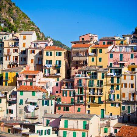 cinque: Beautiful Manarola, Cinque Terre, Italy Stock Photo