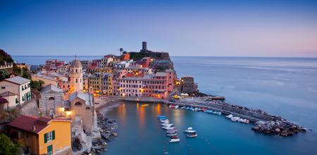''cinque terre'': Village of Vernazza, Cinque Terre, Italy Stock Photo