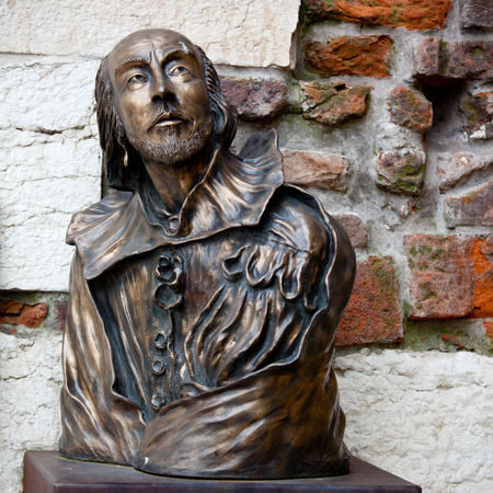 William Shakespeare statue in Verona, Italy photo