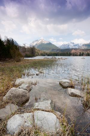 hight: Strbske pleso lake, Hight Tatras, Slovakia Stock Photo