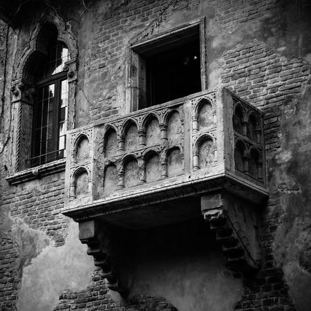 romeo juliet: Romeo and Juliet balcony in Verona, Italy Stock Photo