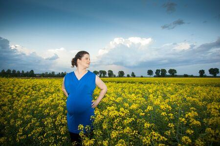 adult rape: pregnant woman in rape field