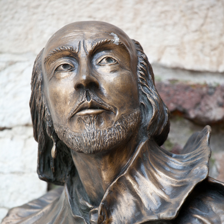 englishman: William Shakespeare statue in Verona, Italy