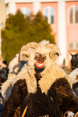farsang: MOHACS, HUNGARY - FEBRUARY 4: Unidentified people in mask participants at the Mohacsi Busojaras, it is a carnival for spring greetings) February 4, 2016 in Mohacs, Hungary. Editorial