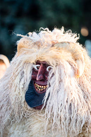 traditonal: MOHACS, HUNGARY - FEBRUARY 4: Unidentified people in mask participants at the Mohacsi Busojaras, it is a carnival for spring greetings) February 4, 2016 in Mohacs, Hungary. Editorial