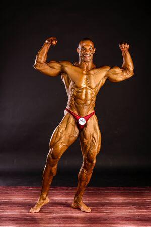 Erd - JUN 11: Philip Ricardo Jr. participate in photo shooting before PNBA bodybuilding world championship on June 11, 2016 in Erd, Hungary