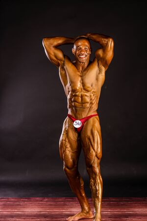 steroid: Erd - JUN 11: Philip Ricardo Jr. participate in photo shooting before PNBA bodybuilding world championship on June 11, 2016 in Erd, Hungary