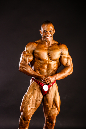 Erd - JUN 11: Philip Ricardo Jr. participate in photo shooting before PNBA bodybuilding world championship on June 11, 2016 in Erd, Hungary