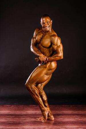 Erd - JUN 11: Philip Ricardo Jr. participate in photo shooting before PNBA bodybuilding world championship on June 11, 2016 in Erd, Hungary Sajtókép