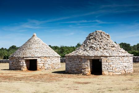 macadam: Istrian shelter kazun made by stone, in vodnjan