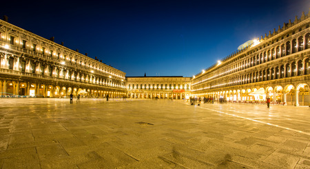 Night view of Piazza San Marco Editorial