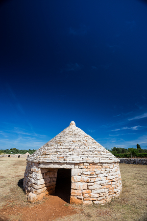Istrian shelter kazun made by stone, in vodnjan